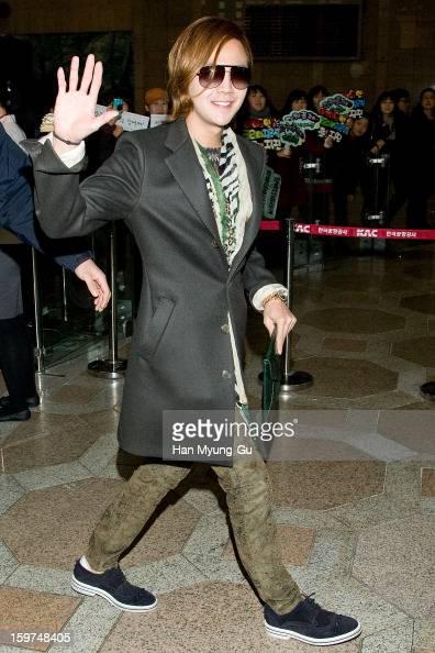 Actor Jang KeunSuk is seen at Gimpo International Airport on January 19 2013 in Seoul South Korea