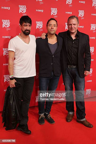 Actor JanJosef Liefers and his Band Radio Doria attends the red carpet prior to the SWR3 New Pop Festival 'Das Special' at Festspielhaus on September...
