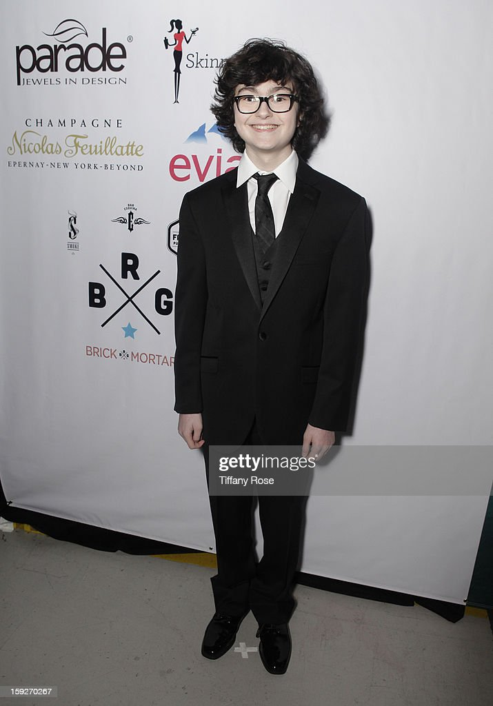 Actor <a gi-track='captionPersonalityLinkClicked' href=/galleries/search?phrase=Jared+Gilman&family=editorial&specificpeople=9330951 ng-click='$event.stopPropagation()'>Jared Gilman</a> attends the Critics' Choice Movie Awards 2013 with Evian at Barker Hangar on January 10, 2013 in Santa Monica, California.