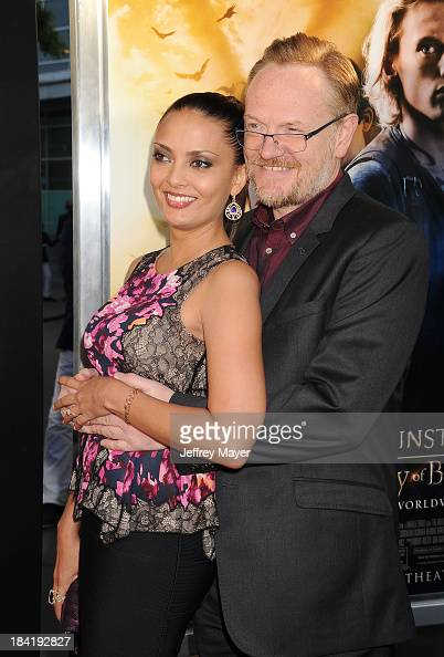 Actor Jared Harris and Allegra Riggio arrive at the Los Angeles premiere of 'The Mortal Instruments City Of Bones' at ArcLight Cinemas Cinerama Dome...