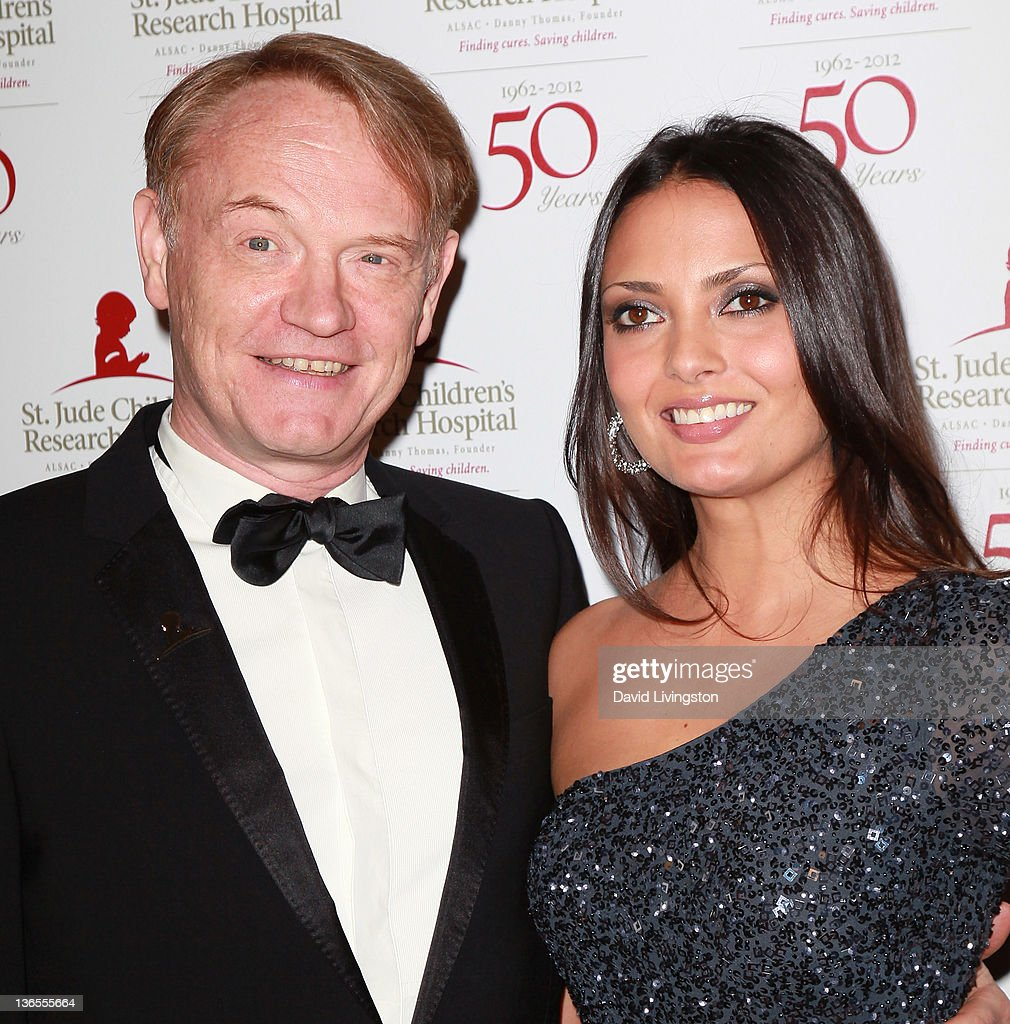 Actor <a gi-track='captionPersonalityLinkClicked' href=/galleries/search?phrase=Jared+Harris&family=editorial&specificpeople=228170 ng-click='$event.stopPropagation()'>Jared Harris</a> (L) and Allegra Riggio attend the 50th anniversary celebration for St. Jude Children's Research Hospital at The Beverly Hilton hotel on January 7, 2012 in Beverly Hills, California.