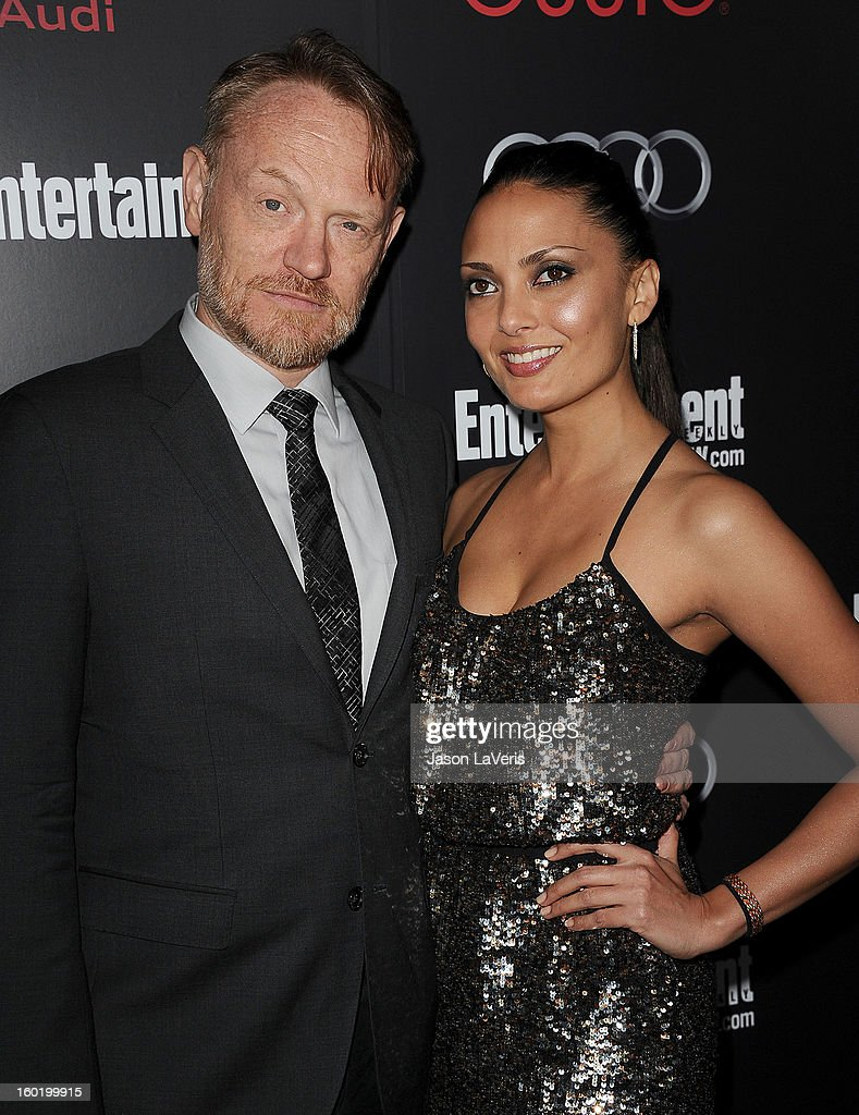 Actor Jared Harris and Allegra Riggio attend the Entertainment Weekly Screen Actors Guild Awards pre-party at Chateau Marmont on January 26, 2013 in Los Angeles, California.