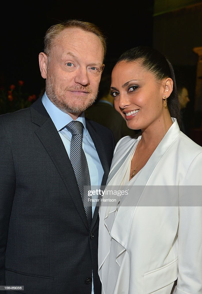 Actor <a gi-track='captionPersonalityLinkClicked' href=/galleries/search?phrase=Jared+Harris&family=editorial&specificpeople=228170 ng-click='$event.stopPropagation()'>Jared Harris</a> and TV personality Allegra Riggio attend a reception honoring Keira Knightly at British Consulate LA with Focus Features and British Film Commission on November 15, 2012 in Los Angeles, California.