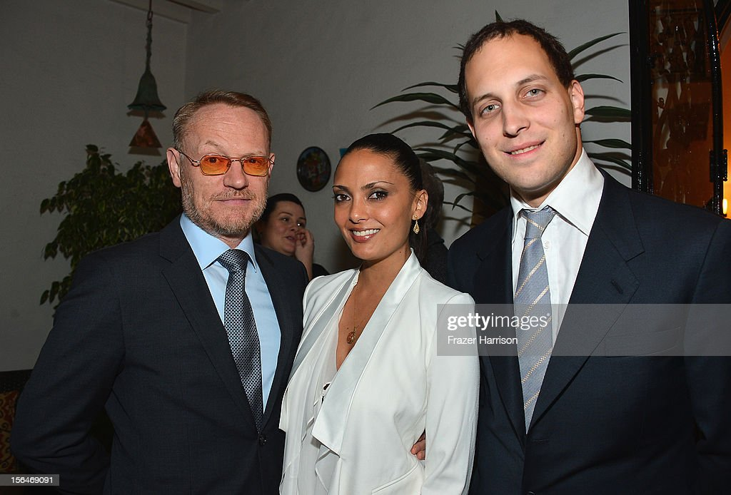 Actor <a gi-track='captionPersonalityLinkClicked' href=/galleries/search?phrase=Jared+Harris&family=editorial&specificpeople=228170 ng-click='$event.stopPropagation()'>Jared Harris</a>, TV personality Allegra Riggio and <a gi-track='captionPersonalityLinkClicked' href=/galleries/search?phrase=Lord+Frederick+Windsor&family=editorial&specificpeople=159599 ng-click='$event.stopPropagation()'>Lord Frederick Windsor</a> attend a reception honoring Keira Knightly at British Consulate LA with Focus Features and British Film Commission on November 15, 2012 in Los Angeles, California.