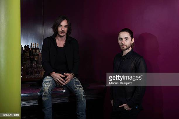 Actor Jared Leto and brother Shannon Leto are photographed for the Sunday Times magazine on May 27 2013 in London England