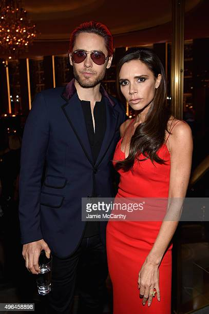 Actor Jared Leto and designer Victoria Beckham attend the 2015 Glamour Women of The Year Awards dinner hosted by Cindi Leive at The Rainbow Room on...