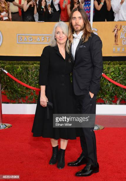 Actor Jared Leto and mother Constance Leto attend the 20th Annual Screen Actors Guild Awards at The Shrine Auditorium on January 18 2014 in Los...