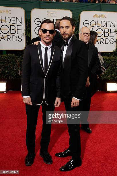 Actor Jared Leto and musician Shannon Leto attend the 71st Annual Golden Globe Awards held at The Beverly Hilton Hotel on January 12 2014 in Beverly...