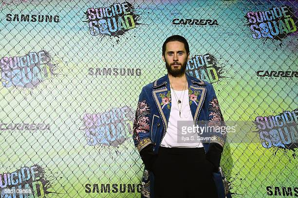 Actor Jared Leto and Samsung celebrate the Premiere of 'Suicide Squad' at Beacon Theatre on August 1 2016 in New York New York