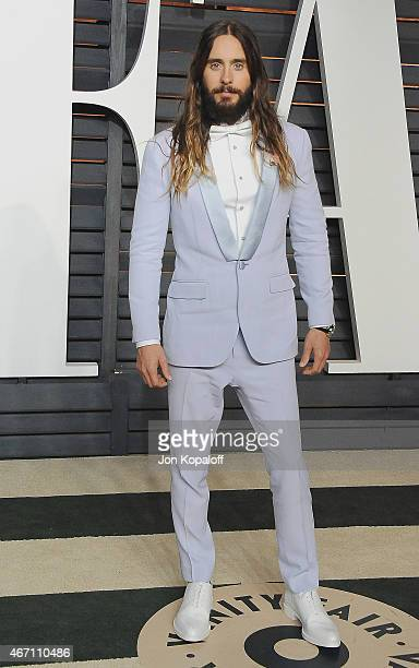 Actor Jared Leto arrives at the 2015 Vanity Fair Oscar Party Hosted By Graydon Carter at Wallis Annenberg Center for the Performing Arts on February...