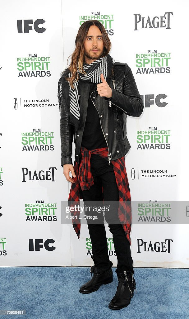 Actor Jared Leto arrives for the 2014 Film Independent Spirit Awards held at the beach on March 1, 2014 in Santa Monica, California.
