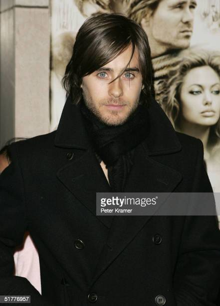 Actor Jared Leto attends a special screening of 'Alexander' at Lincoln Center on November 22 2004 in New York City