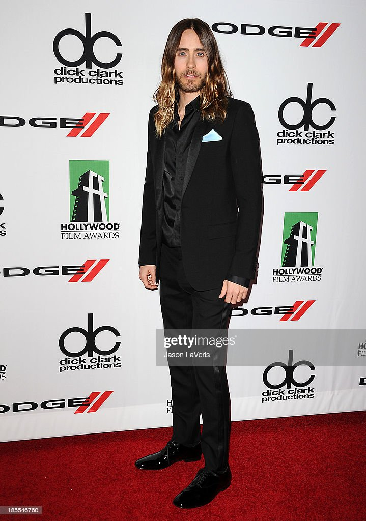 Actor <a gi-track='captionPersonalityLinkClicked' href=/galleries/search?phrase=Jared+Leto&family=editorial&specificpeople=214764 ng-click='$event.stopPropagation()'>Jared Leto</a> attends the 17th annual Hollywood Film Awards at The Beverly Hilton Hotel on October 21, 2013 in Beverly Hills, California.