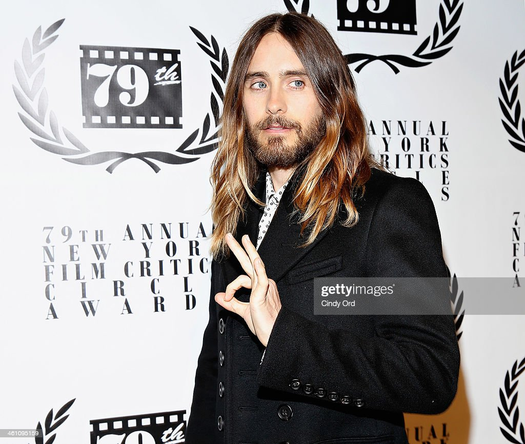 Actor <a gi-track='captionPersonalityLinkClicked' href=/galleries/search?phrase=Jared+Leto&family=editorial&specificpeople=214764 ng-click='$event.stopPropagation()'>Jared Leto</a> attends the 2013 New York Film Critics Circle Awards Ceremony at The Edison Ballroom on January 6, 2014 in New York City.