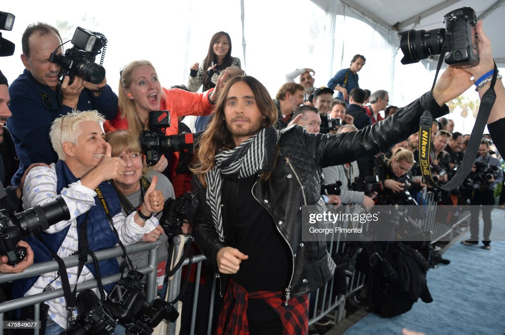 Actor Jared Leto attends the 2014 Film Independent Spirit Awards at Santa Monica Beach on March 1, 2014 in Santa Monica, California.