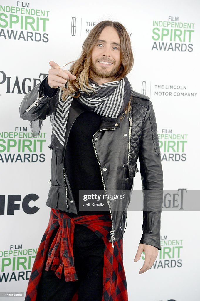 Actor Jared Leto attends the 2014 Film Independent Spirit Awards on March 1, 2014 in Santa Monica, California.