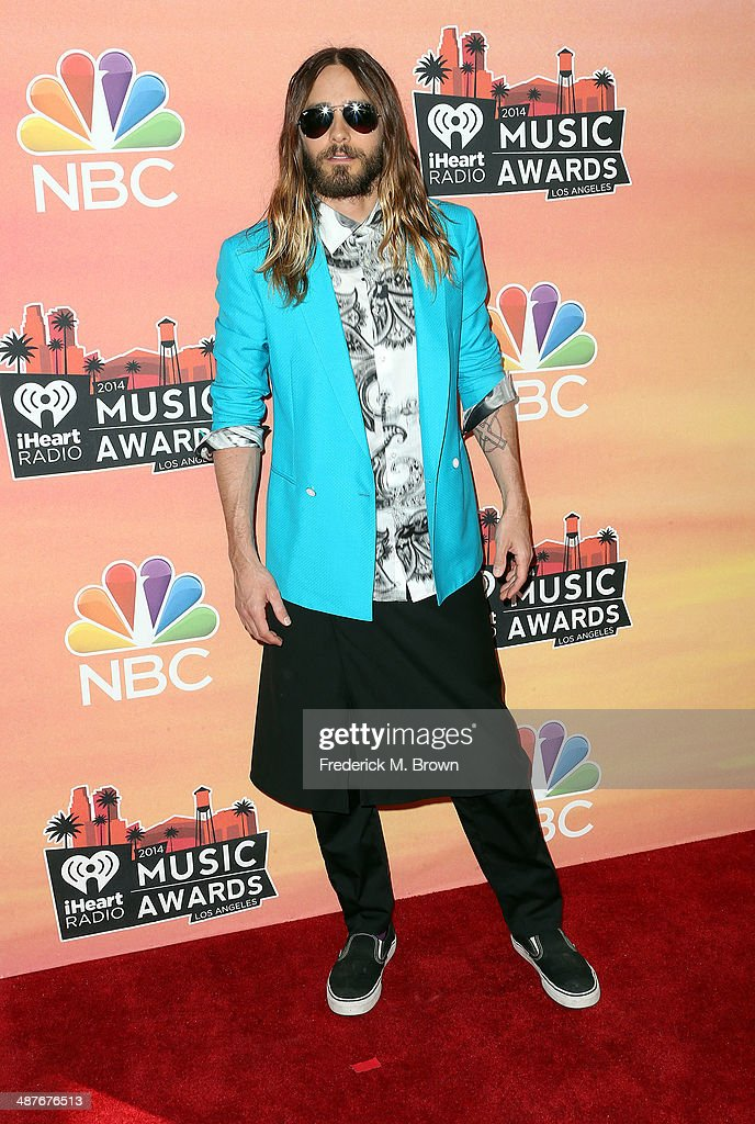 Actor <a gi-track='captionPersonalityLinkClicked' href=/galleries/search?phrase=Jared+Leto&family=editorial&specificpeople=214764 ng-click='$event.stopPropagation()'>Jared Leto</a> attends the 2014 iHeartRadio Music Awards at The Shrine Auditorium on May 1, 2014 in Los Angeles, California.