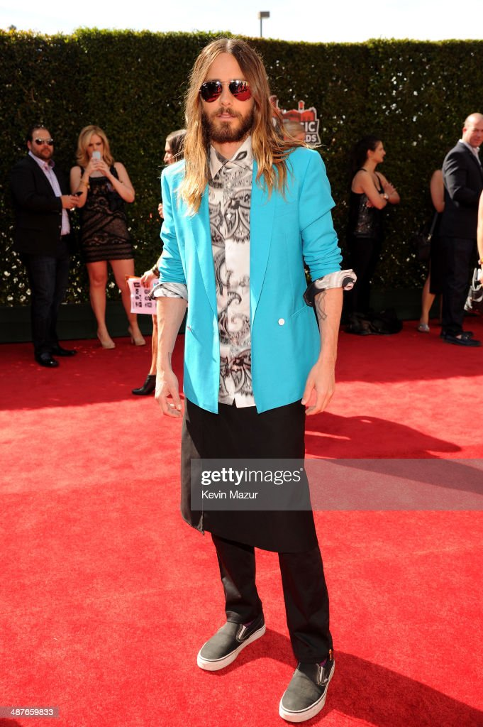 Actor <a gi-track='captionPersonalityLinkClicked' href=/galleries/search?phrase=Jared+Leto&family=editorial&specificpeople=214764 ng-click='$event.stopPropagation()'>Jared Leto</a> attends the 2014 iHeartRadio Music Awards held at The Shrine Auditorium on May 1, 2014 in Los Angeles, California. iHeartRadio Music Awards are being broadcast live on NBC.