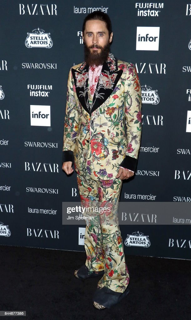 Actor Jared Leto attends the 2017 Harper's Bazaar Icons at The Plaza Hotel on September 8, 2017 in New York City.