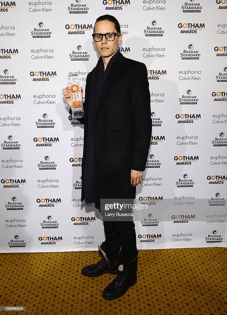 Actor <a gi-track='captionPersonalityLinkClicked' href=/galleries/search?phrase=Jared+Leto&family=editorial&specificpeople=214764 ng-click='$event.stopPropagation()'>Jared Leto</a> attends the 22nd Annual Gotham Independent Film Awards at Cipriani Wall Street on November 26, 2012 in New York City.