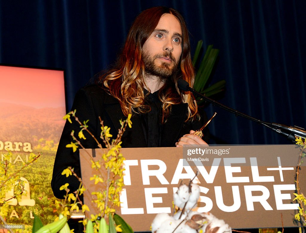 Actor <a gi-track='captionPersonalityLinkClicked' href=/galleries/search?phrase=Jared+Leto&family=editorial&specificpeople=214764 ng-click='$event.stopPropagation()'>Jared Leto</a> attends the 29th Santa Barbara International Film Festival Virtuosos Award to Daniel Bruhl, Michael B. Jordan, Brie Larson, <a gi-track='captionPersonalityLinkClicked' href=/galleries/search?phrase=Jared+Leto&family=editorial&specificpeople=214764 ng-click='$event.stopPropagation()'>Jared Leto</a> and June Squibb on February 4, 2014 in Santa Barbara, California.