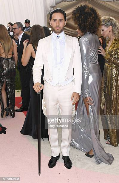 Actor Jared Leto attends the 'Manus x Machina Fashion In An Age Of Technology' Costume Institute Gala at Metropolitan Museum of Art on May 2 2016 in...