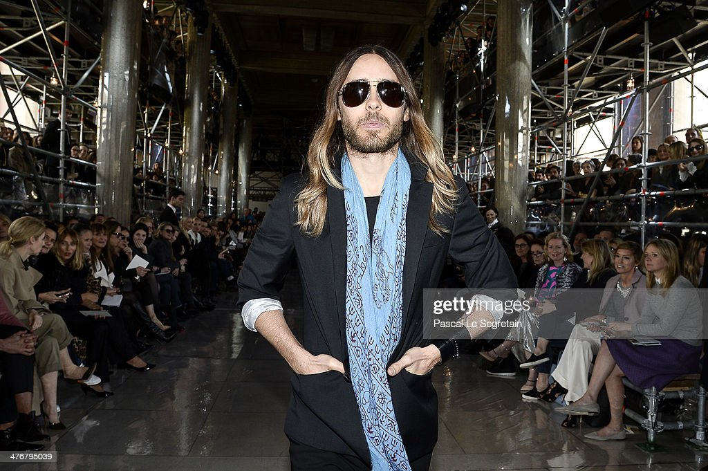 Actor Jared Leto attends the Miu Miu show as part of the Paris Fashion Week Womenswear Fall/Winter 2014-2015 on March 5, 2014 in Paris, France.