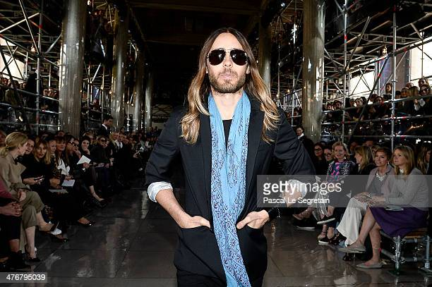 Actor Jared Leto attends the Miu Miu show as part of the Paris Fashion Week Womenswear Fall/Winter 20142015 on March 5 2014 in Paris France