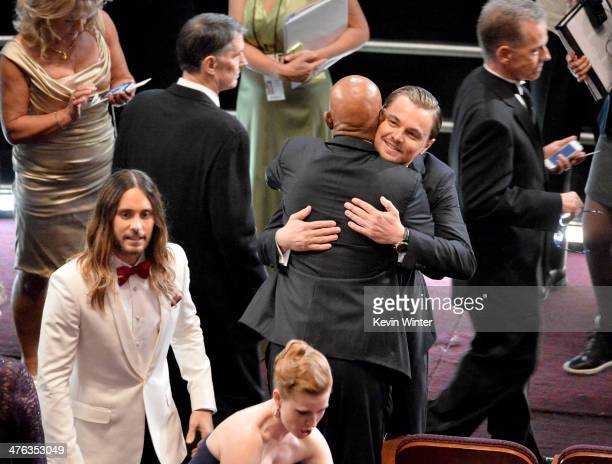 Actor Jared Leto attends the Oscars at the Dolby Theatre on March 2 2014 in Hollywood California
