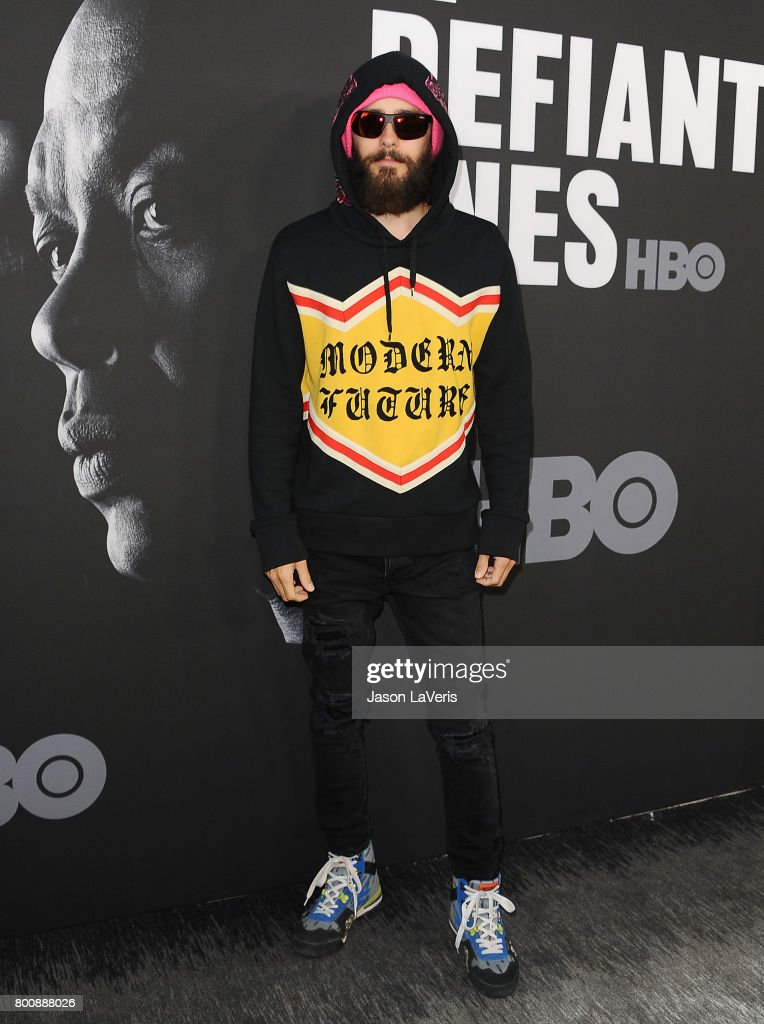 Actor Jared Leto attends the premiere of 'The Defiant Ones' at Paramount Theatre on June 22, 2017 in Hollywood, California.