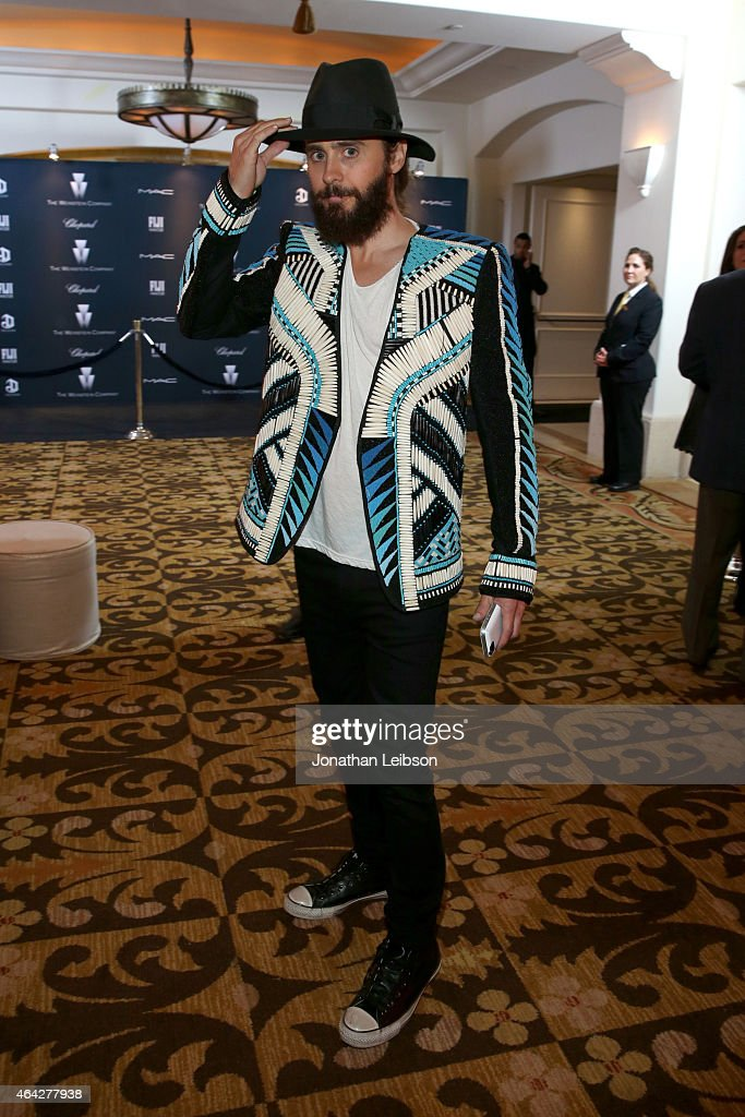Actor Jared Leto attends The Weinstein Company's Academy Awards Nominees Dinner in partnership with Chopard, DeLeon Tequila, FIJI Water and MAC Cosmetics on February 21, 2015 in Los Angeles, California.