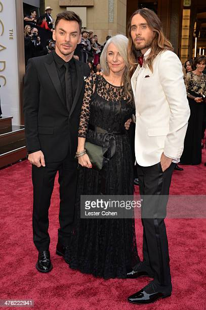 Actor Jared Leto Constance Leto and musician Shannon Leto attend the Oscars held at Hollywood Highland Center on March 2 2014 in Hollywood California