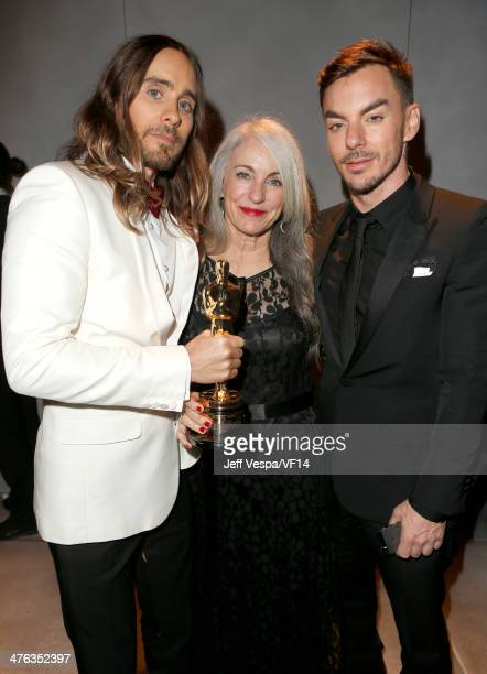 Actor Jared Leto Constance Leto and Shannon Leto attend the 2014 Vanity Fair Oscar Party Hosted By Graydon Carter on March 2 2014 in West Hollywood...