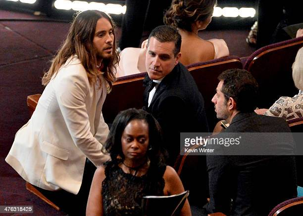 Actor Jared Leto in the audience during the Oscars at the Dolby Theatre on March 2 2014 in Hollywood California