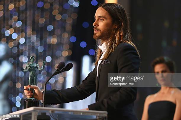 Actor Jared Leto onstage during 20th Annual Screen Actors Guild Awards at The Shrine Auditorium on January 18 2014 in Los Angeles California