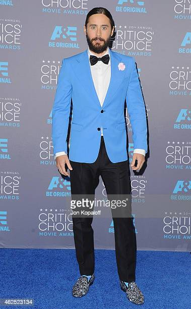 Actor Jared Leto poses in the press room at the 20th Annual Critics' Choice Movie Awards at Hollywood Palladium on January 15 2015 in Los Angeles...