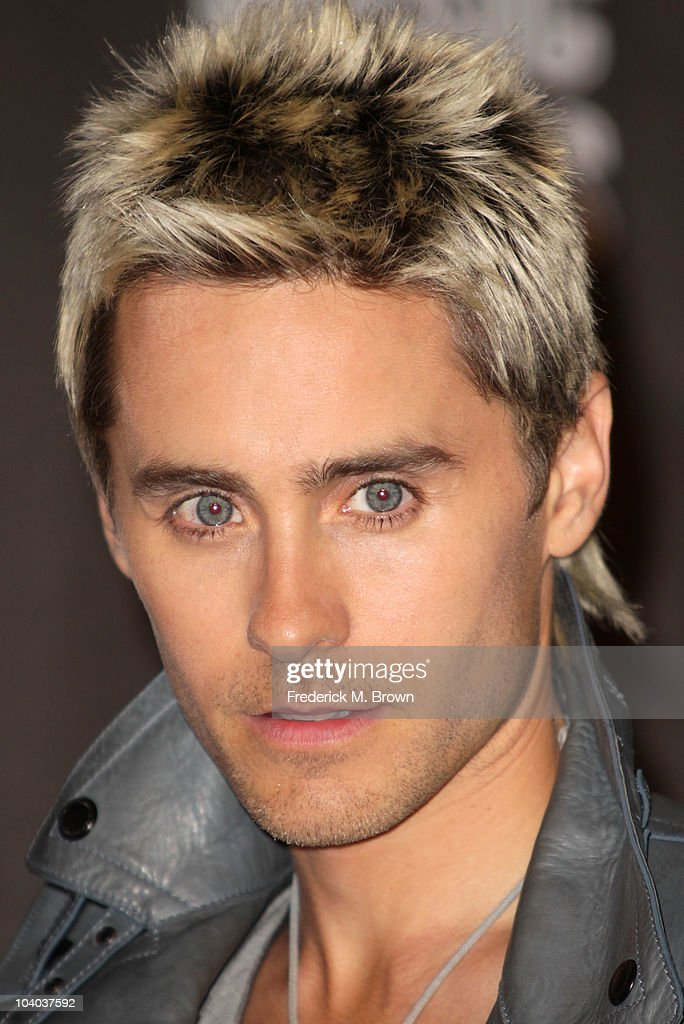 Actor <a gi-track='captionPersonalityLinkClicked' href=/galleries/search?phrase=Jared+Leto&family=editorial&specificpeople=214764 ng-click='$event.stopPropagation()'>Jared Leto</a> poses in the press room during the MTV Video Music Awards at NOKIA Theatre L.A. LIVE on September 12, 2010 in Los Angeles, California.