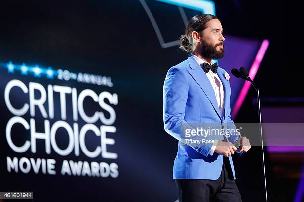 Actor Jared Leto speaks onstage during the 20th annual Critics' Choice Movie Awards at the Hollywood Palladium on January 15 2015 in Los Angeles...