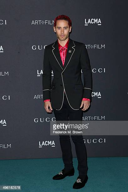 Actor Jared Leto wearing Gucci attends LACMA 2015 ArtFilm Gala Honoring James Turrell and Alejandro G Iñárritu Presented by Gucci at LACMA on...