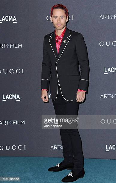 Actor Jared Leto wearing Gucci attends the LACMA Art Film Gala honoring Alejandro G Iarritu and James Turrell and presented by Gucci at LACMA on...