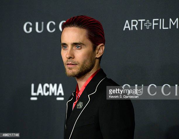 Actor Jared Leto wearing Gucci attends the LACMA Art Film Gala honoring Alejandro G Iñárritu and James Turrell and presented by Gucci at LACMA on...