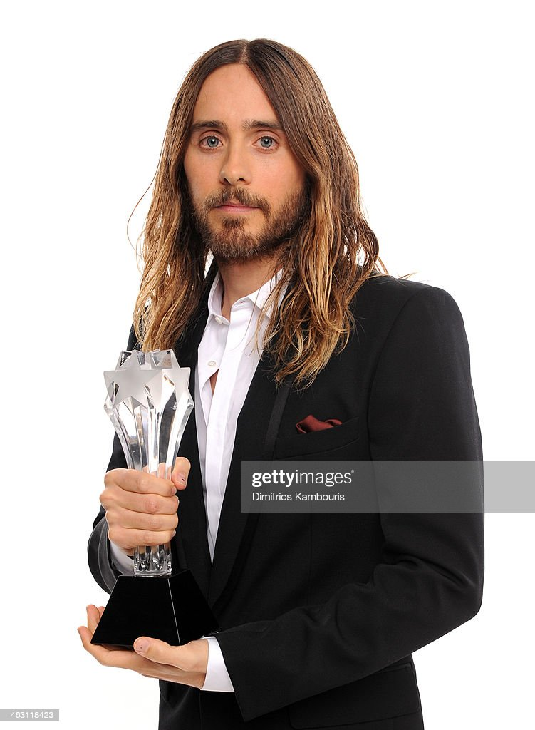 Actor <a gi-track='captionPersonalityLinkClicked' href=/galleries/search?phrase=Jared+Leto&family=editorial&specificpeople=214764 ng-click='$event.stopPropagation()'>Jared Leto</a>, winner of Best Supporting Actor, poses for a portrait during the 19th Annual Critics' Choice Movie Awards at Barker Hangar on January 16, 2014 in Santa Monica, California.