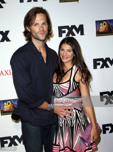 Actor Jared Padalecki and his wife Genevieve Padalecki attend the Maxim FX and Home Entertainment ComicCon Party on July 19 2013 in San Diego...