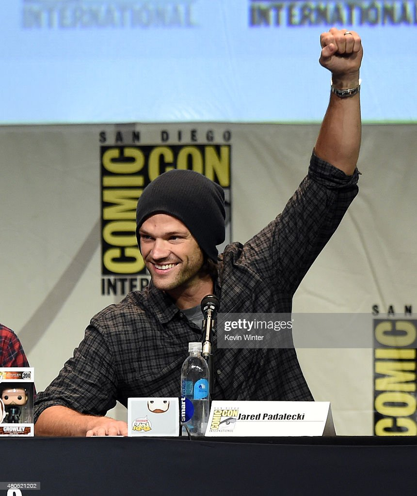 Actor Jared Padalecki appears onstage at the 'Supernatural' panel during Comic-Con International 2015 at the San Diego Convention Center on July 12, 2015 in San Diego, California.