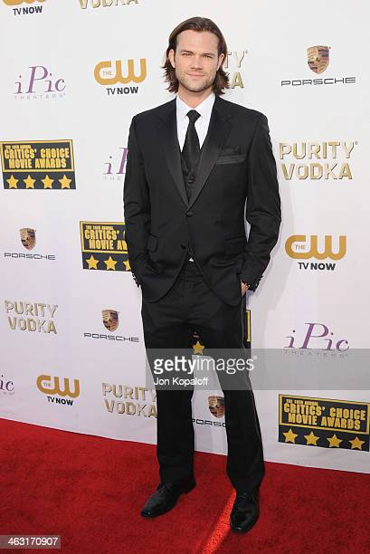 Actor Jared Padalecki arrives at the 19th Annual Critics' Choice Movie Awards at Barker Hangar on January 16 2014 in Santa Monica California