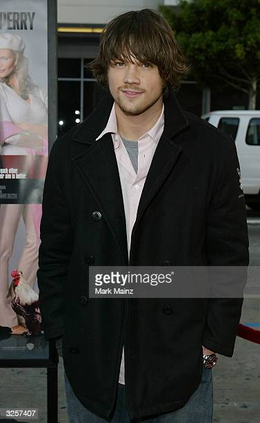 Actor Jared Padalecki attends 'The Whole Ten Yards Premiere' at the Chinese Theatre April 7 2004 in Los Angeles California