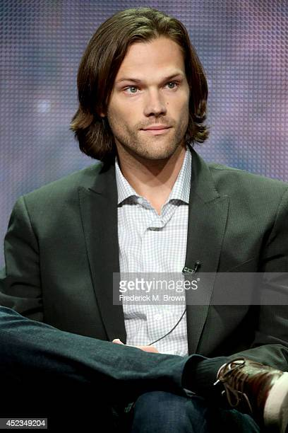 Actor Jared Padalecki speaks onstage at the 'Supernatural' panel during the CW Network portion of the 2014 Summer Television Critics Association at...