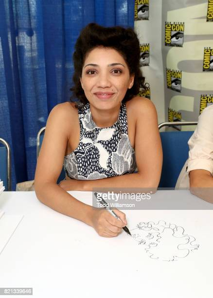 Actor Jasika Nicole Jasika Nicole attends Amazon's KIDS JOINT signing area during San Diego ComicCon International 2017 at the San Diego Convention...