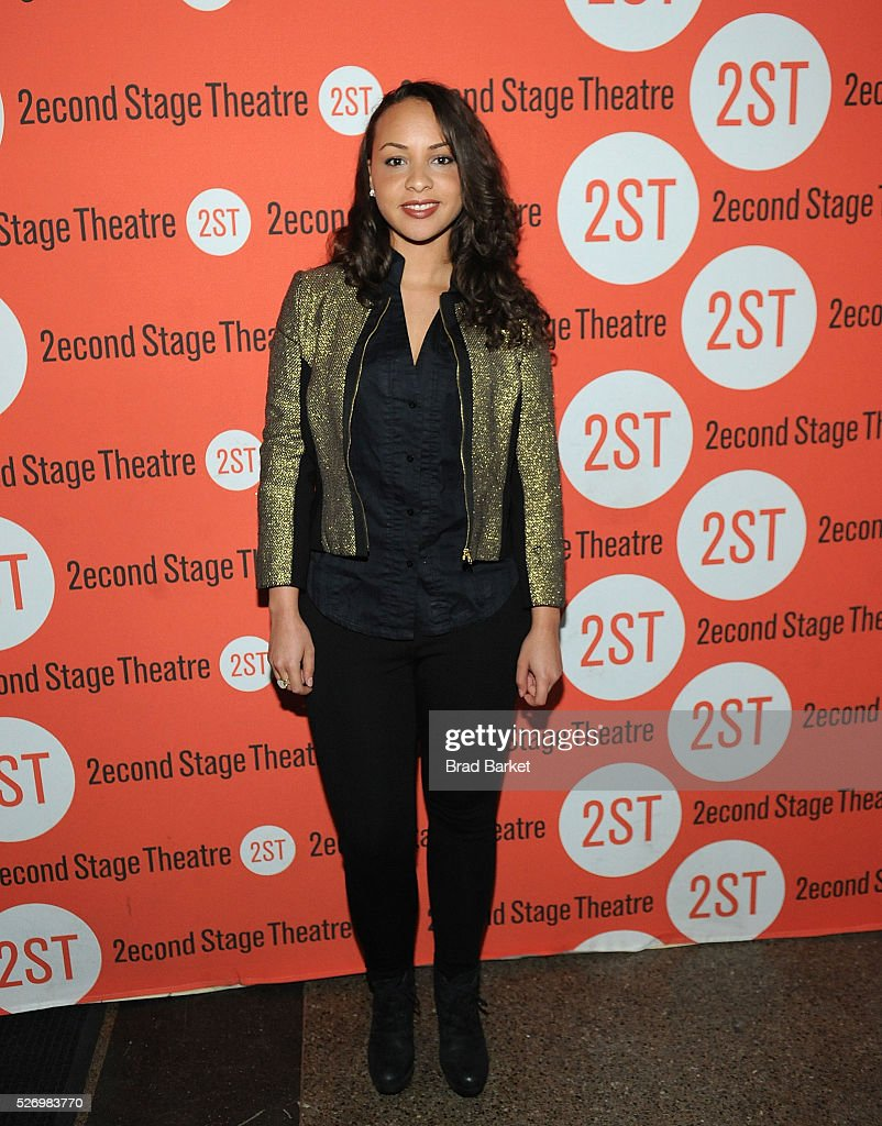 Actor Jasmine Cephas Jones attends 'Dear Evan Hansen' Off-Broadway opening celebration at Second Stage Theatre on May 1, 2016 in New York City.