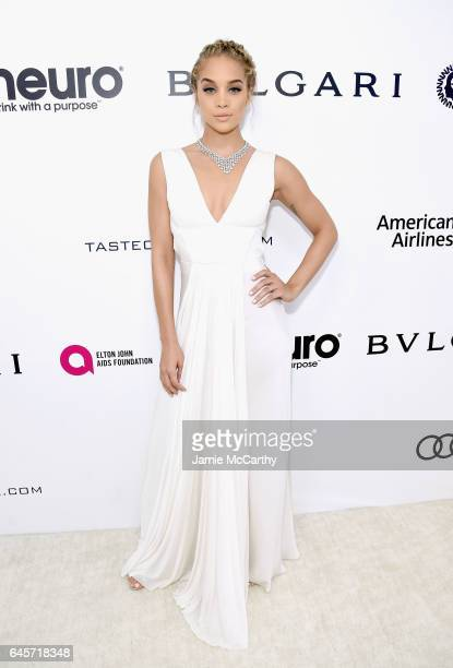 Actor Jasmine Sanders attends the 25th Annual Elton John AIDS Foundation's Academy Awards Viewing Party at The City of West Hollywood Park on...